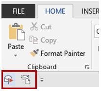 Example of Quick Access Toolbar (QAT)