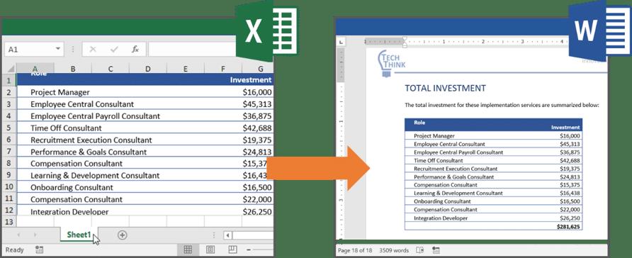 Excel integration