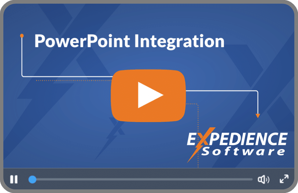 The Expedience PowerPoint Accelerator is a customized software module that aligns a Microsoft PowerPoint presentation with a completed proposal.