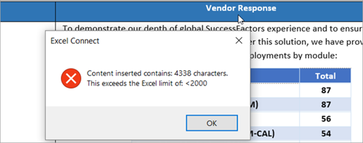 Automatically inspect Excel RFPs data validation restrictions and return completed answers