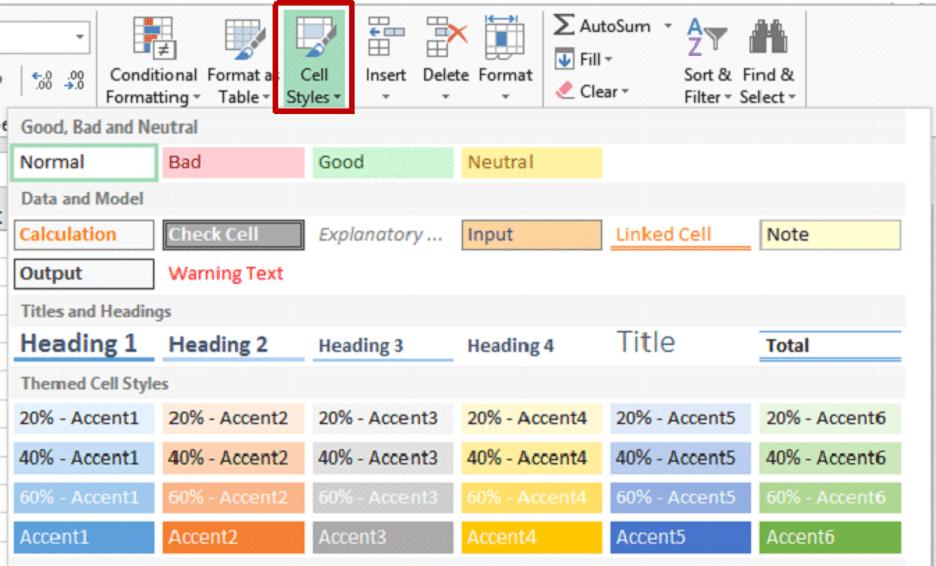 How to change Excel's default formatting properties